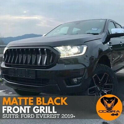 AU249 • Buy FRONT BUMPER GRILL Fits FORD EVEREST 2018 2019 2020 MATTE BLACK GRILLE