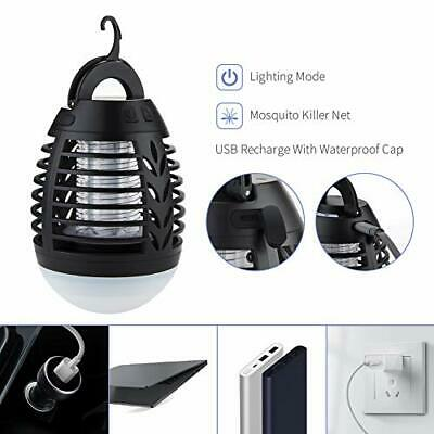 AU30.89 • Buy Waterproof Mosquito Zapper Lamp Camping Tent Outdoor Insect Bug Killer Light AU