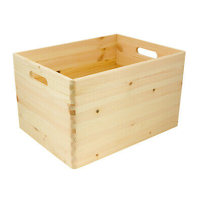 Wooden Crate Wooden Box With Handles Storage Boxes With Handles • 9.99£