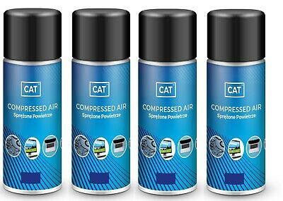 4 X Compressed Air Duster Gas Spray / Cleaner, MAX POWER 9 Bar - Can 200ml • 9.99£