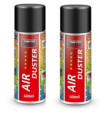 2 X Compressed Air Duster Gas Spray Cleaner Keyboard Mouse Printer Can 400ml • 8.98£