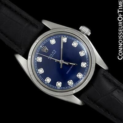 $ CDN4536.74 • Buy ROLEX OYSTER Vintage Mens Stainless Steel & Diamond Watch - $6,995, Mint Cond.