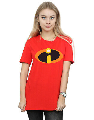 Disney Women's The Incredibles Costume Logo Boyfriend Fit T-Shirt • 16.99£
