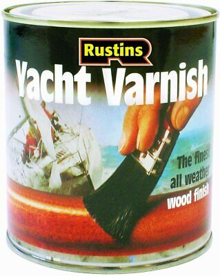 RUSTINS YACHT VARNISH SATIN/GLOSS - 250ml/500ml/1L -  Free Delivery • 24.99£