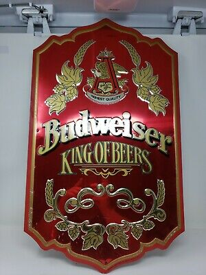 $ CDN39.62 • Buy Budweiser Sign King Of Beers Metal On Wood Pre-Embossed 27x16.5
