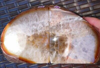 Stunning Heavy Large Natural Agate Geode Bookends Healing Crystal • 29.99£