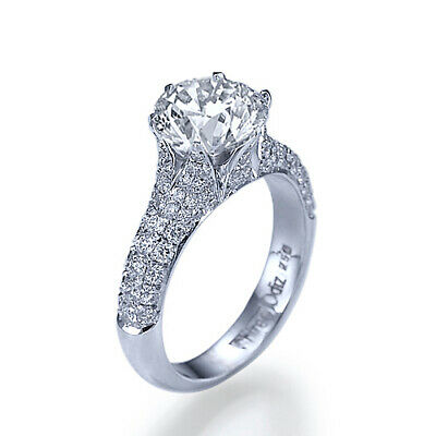 $ CDN3064.82 • Buy French Pave 1 1/2 Carat D VS Diamond Engagement Ring Size 9.5