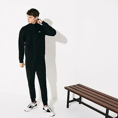 Lacoste Fleece Tracksuit Black Size 2 Extra Small • 100£
