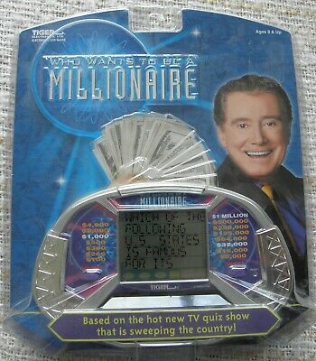Tiger Who Wants To Be A Millionaire Hand Held LCD Game • 10£