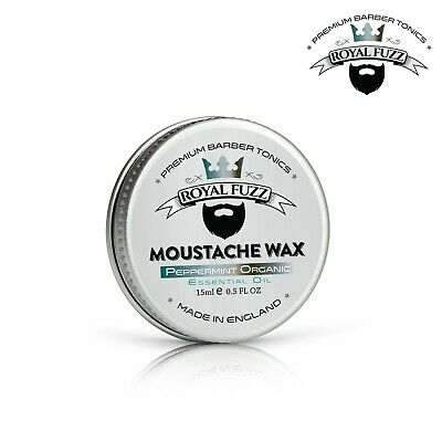 Organic Peppermint - Moustache Wax 15ml | Premium Barber Tonics | ROYAL FUZZ ® • 3.99£