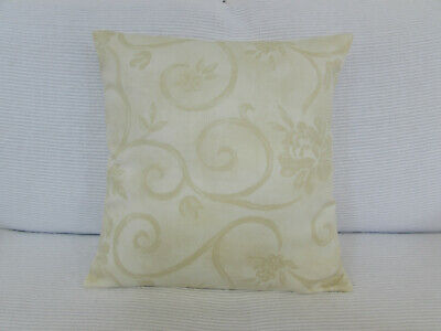 £4.50 • Buy Lovely Cushion Cover, Cream, Pale Gold, Floral Swirl Design, Light Cotton Blend.