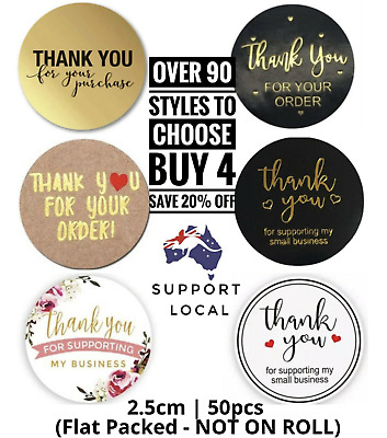 AU4.85 • Buy Sticker Thank You For Your Order Thank You Sticker Thank You Business 25mm50pc🔥