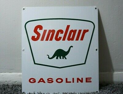 $ CDN214.46 • Buy Vintage Sinclair Porcelain Sign Gas Motor Oil Can Station Pump Dino Gasoline Ad