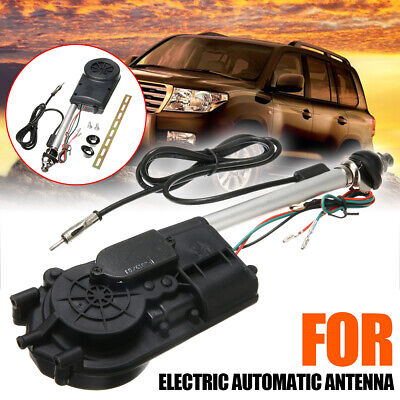 Universal Car AM/FM Radio Mast Power Electric Automatic Antenna Aerial Kit • 13.61£