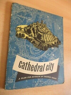 CATHEDRAL CITY PLAN DURHAM Old Vintage Guide ARCHITECTURE Book WW2 Thomas Sharp • 32.99£