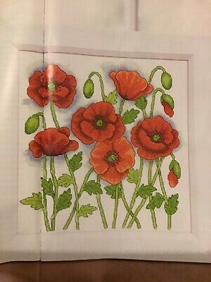 (H) Lest We Forget Vibrant Poppy Flowers Cross Stitch Chart • 1.99£