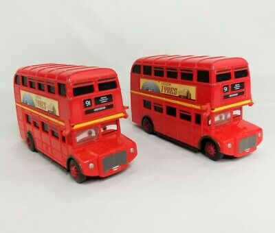$ CDN25.51 • Buy Disney Pixar Cars 2 Double Decker Buses Crosshead Lot Of 2 Diecast 1:55 Scale