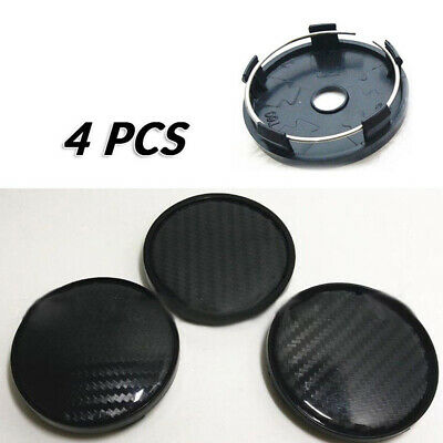 $13.31 • Buy 4pcs 60mm Auto Car Wheel Rim Hub Carbon Fiber Center Caps Cover Plastic Parts