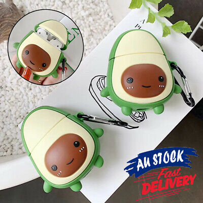 AU11.99 • Buy Airpods Earphone Case Silicone Shockproof Avocado Cover Compatible With Apple