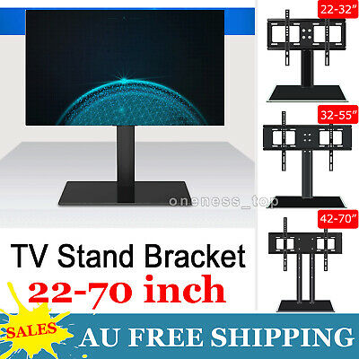 AU17.99 • Buy 22 -70  Universal Table Top Desktop TV Stand Bracket LCD LED Plasma VESA Mount