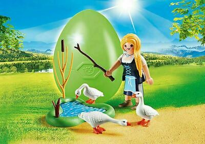 Playmobil Easter Egg 70083 Maiden With Geese Farm Animals Kid's Gift Toy RARE • 12.49£