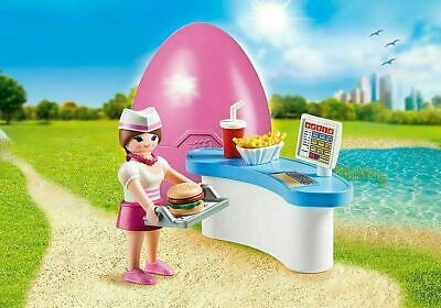 Playmobil Easter Egg 70084 Diner Waitress With Counter Cafe Kid's Gift Toy RARE • 12.49£