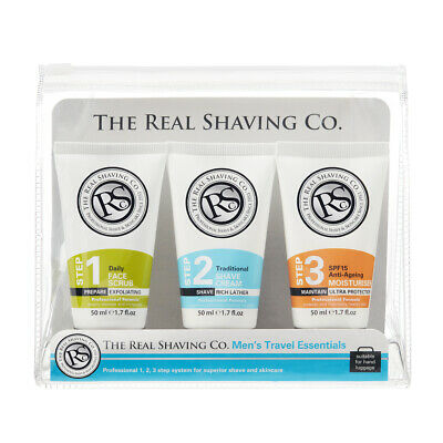 £7.99 • Buy The Real Shaving Company Men's Travel Essentials Shave & Skincare Gift Set
