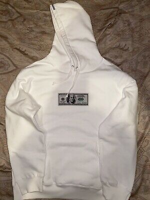 $ CDN261.41 • Buy Supreme Franklin Hooded Sweatshirt White Size Large Box Logo Hoodie IN HAND