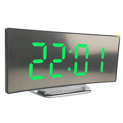 LED Display Alarm Clock Digital Projection Clock With 12/24 Hours Display Green • 10.57£