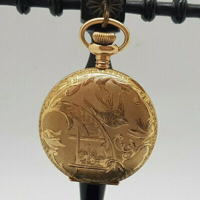 Antique Excelsior Full Hunter Gold Plated Small Pocket Watch 41 Mm.  • 395£