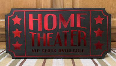Home Theater Tv Movie Room Cinema Coke Candy Wall Decor VIP Seats Poster Game • 32.63£