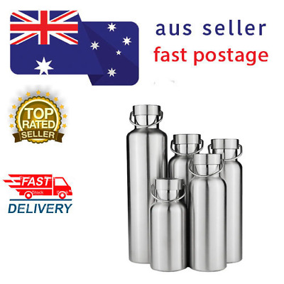AU34.50 • Buy STAINLESS STEEL THERMOS Double Wall Vacuum Insulated Water Bottle Stainless Cap