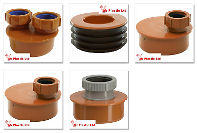 £16.65 • Buy Polypipe 110mm Underground Drainage To Waste Pipe Adaptor - 32mm, 40mm Or 50mm