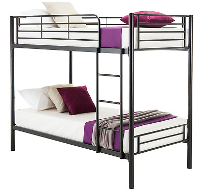 Double Beds Kids Bunk Bed Triple Single Bed Children Metal Bed Frame With Stairs • 139.99£