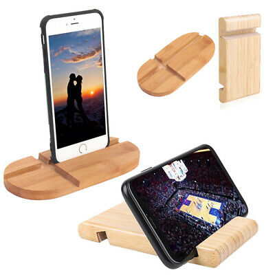 £2.26 • Buy Cell Phone Desk Wood Stand Holder Dock For 4-13inch Smartphone IPhone IPad Mini