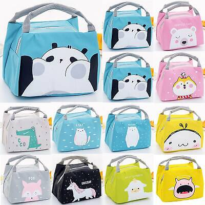 Kids Girls Boys Portable School Insulated Lunch Bag Picnic Tote Thermal Box Case • 5.60£