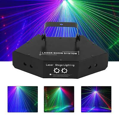 LED Stage Lighting RGB Projector Disco Party DJ Light Effect Color Spotlight • 39.99£