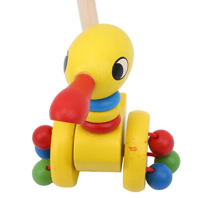 £5.86 • Buy Wooden Animal Push Pull Along Toys Puzzle Trolley Pushing Baby Kids Toys Gift