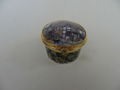 £17.50 • Buy Royal Worcester Connoisseur Collection Worcestershire Cottage Trinket / Pill Box