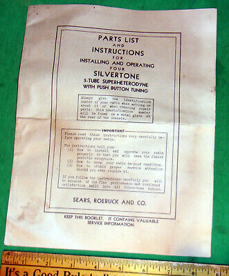 $ CDN19.02 • Buy Silvertone Commentator Radio Original Operating Manual 3311 3351 3361 3411 More