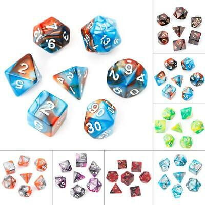 AU4.41 • Buy 7pcs/Set Acrylic Polyhedral Dice For TRPG Board Game Dungeons And Dragons D4-D20
