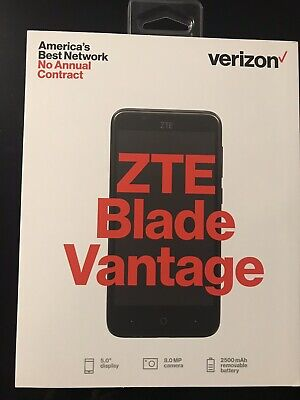 "$29.99 • Buy New Verizon 5"" Display ZTE Blade Vantage 4G LTE Prepaid Smartphone Black  SEALED"