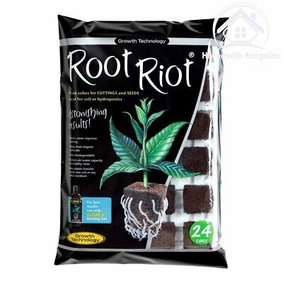 £9.90 • Buy Growth Technology Root Riot 24 Propagation Plant Starter Cubes Tray Hydroponics