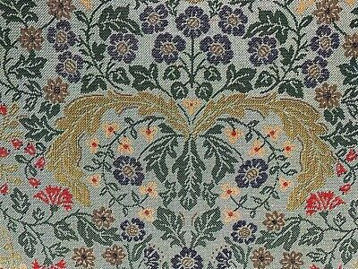 Munstead Morris  Tapestry Duckegg  Cotton 140cm Wide Curtain/Upholstery Fabric • 18.99£