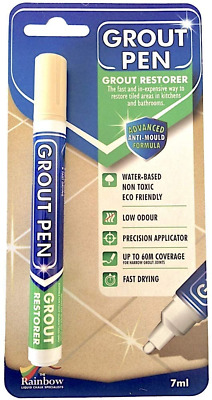 Grout Pen - Designed For Restoring Tile Grout In Bathrooms & Kitchens Cream • 5.41£