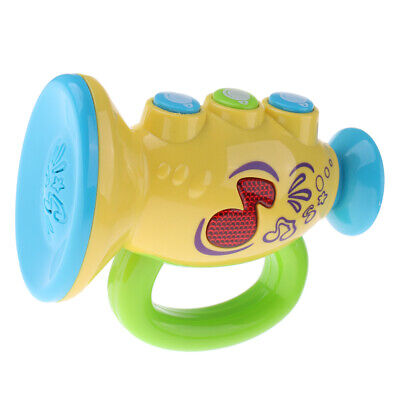 Baby Electronic Trumpet With Lights & Sound Musical Learning Toy For Toddler • 7.65£