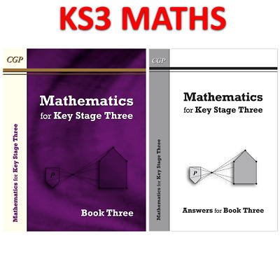 KS3 Years 7-9  Maths Textbook 3 With Answer Book CGP • 14.69£