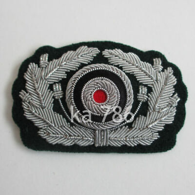 WW2 German Heer Officer Visor Cap Hat Emblem, Abzeichen AD456 • 10.95£
