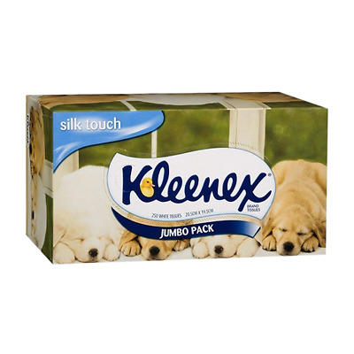 AU8.92 • Buy 2 X Kleenex Silk Touch Tissues, White, Jumbo Pack, 250 Tissues Per Box, Each
