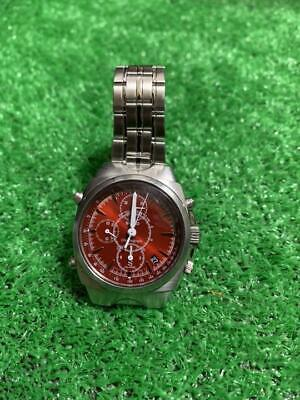 $ CDN111.07 • Buy [ For Parts ] Seiko Chronograph 7T32-9000 Red Dial Men's Watch Vintage